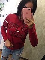 Модный женский свитшот Турция, красный