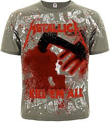 """Футболка Metallica """"Kill'em All"""" (olive t-shirt), Размер M"""