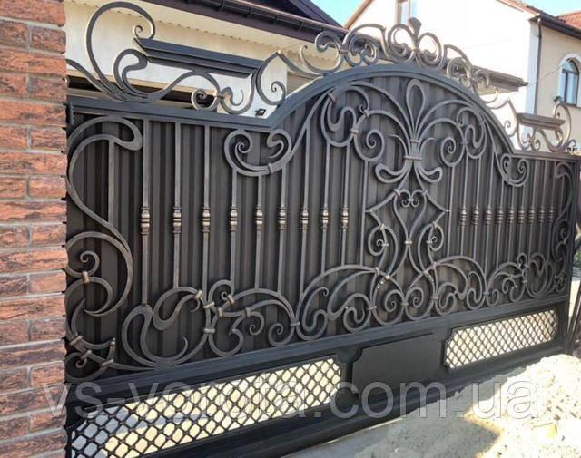 Кованые ворота уличные - изготовление Киев