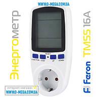 Счетчики электроэнергии, энергометры Feron TM55 в розетку, фото 1
