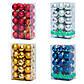 Комплект шаров в пвх коробке 25*30 шт, пластик, золото  (032327-2), фото 2