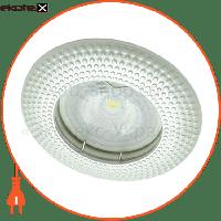 Feron Встраиваемый светильник  DL6042 жемчужное серебро 30124