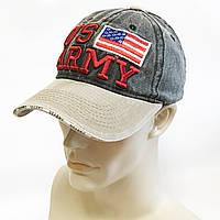 "Бейсболка мужская ""US ARMY"" (серо-бежевая)"