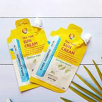 Солнцезащитный крем с зеленым чаем  EYENLIP Tea Tree Sun Cream (SPF50+ / PA+++) 20 г