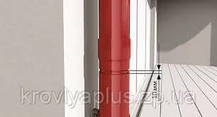 Водосточная сисиема BRYZA 125 Муфта трубы 90 красный, фото 2