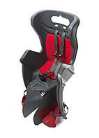 Велокрісло дитяче Bellelli Little Duck на багажник, до 22кг сірий (WYP81)