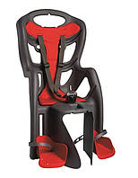 Велокрісло дитяче Bellelli Pepe Clamp, на багажник, до 22кг сірий з червоним (WYP013)