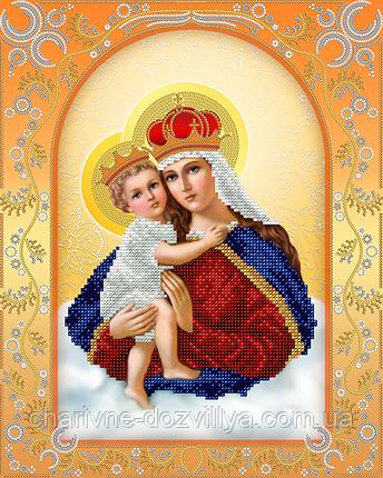 "Схема для вышивки бисером на атласе икона ""Богородица с младенцем"", фото 2"