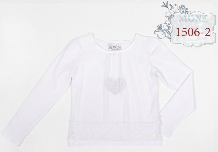 Школьная блузка с длинным рукавом Моне р-р 122
