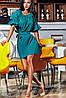 Летнее женское платье с оголенными плечами свободное на пояске коттоновое полотно