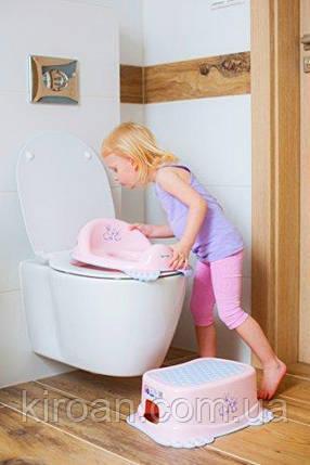 Детская подставка для ног (табурет-подставка) Irak Plastik,Турция (цвет розовый), фото 2