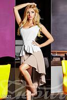Женское нежное летнее платье с глубоким декольте без рукавов на поясе коттон, фото 1