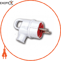 Horoz Electric Вилка угловая с ушком с заземлением