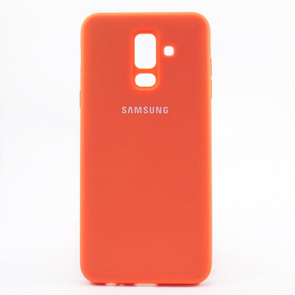 Чехол Silicone Case для Samsung Galaxy J8 2018 (J800FN) Orange / Оранжевый