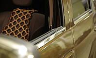 Хром молдинг стекла Renault duster (рено дастер), 4 шт. нерж, фото 1