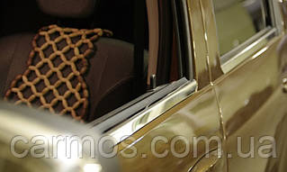 Хром молдинг стекла Renault duster (рено дастер), 4 шт. нерж