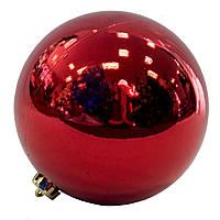 Шар пластиковый глянцевый d-15см, красный (033881)