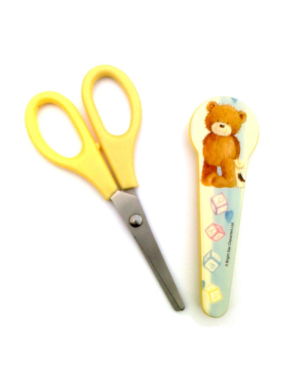 """Ножницы в пластиковом чехле """"Popcorn the Bear"""""""