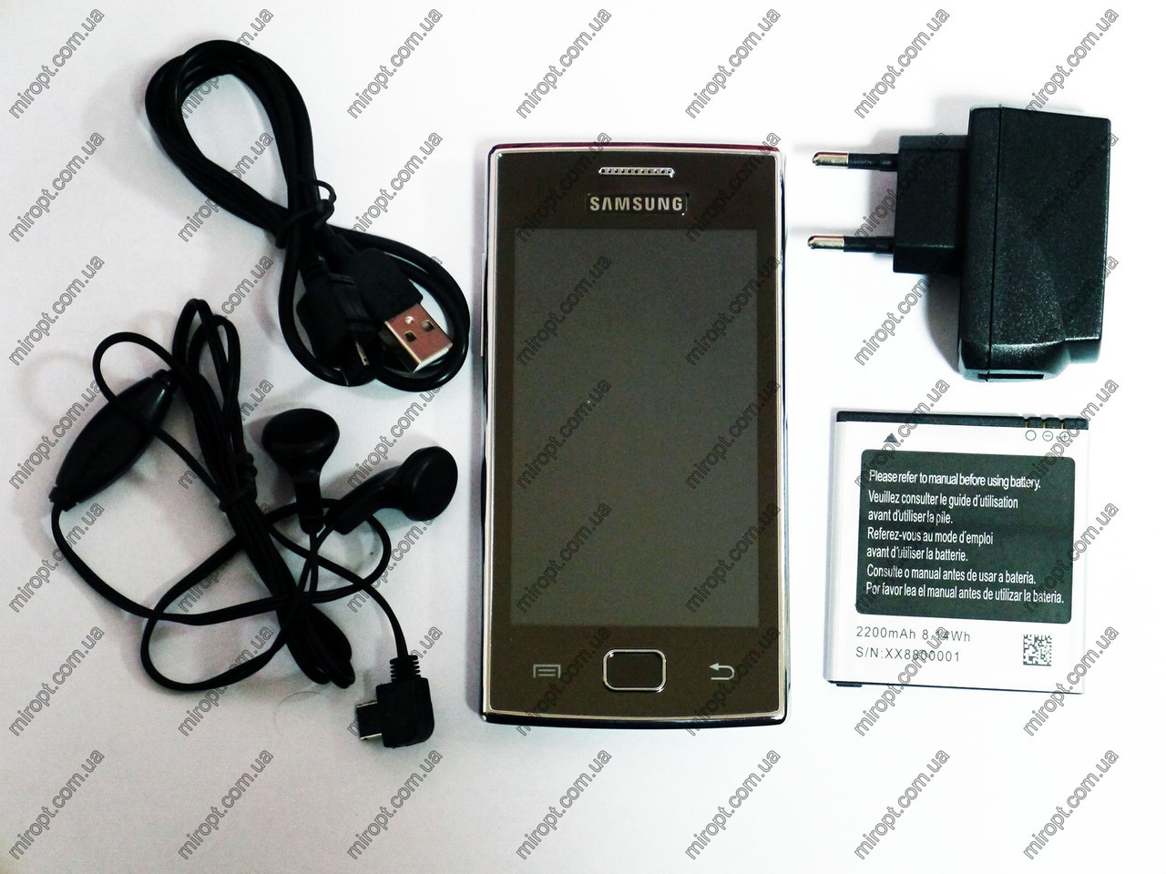 "Телефон Samsung Galaxy 8350 TV Черный - 2Sim + 4.0"" сенсорный экран - Металл.корпус"