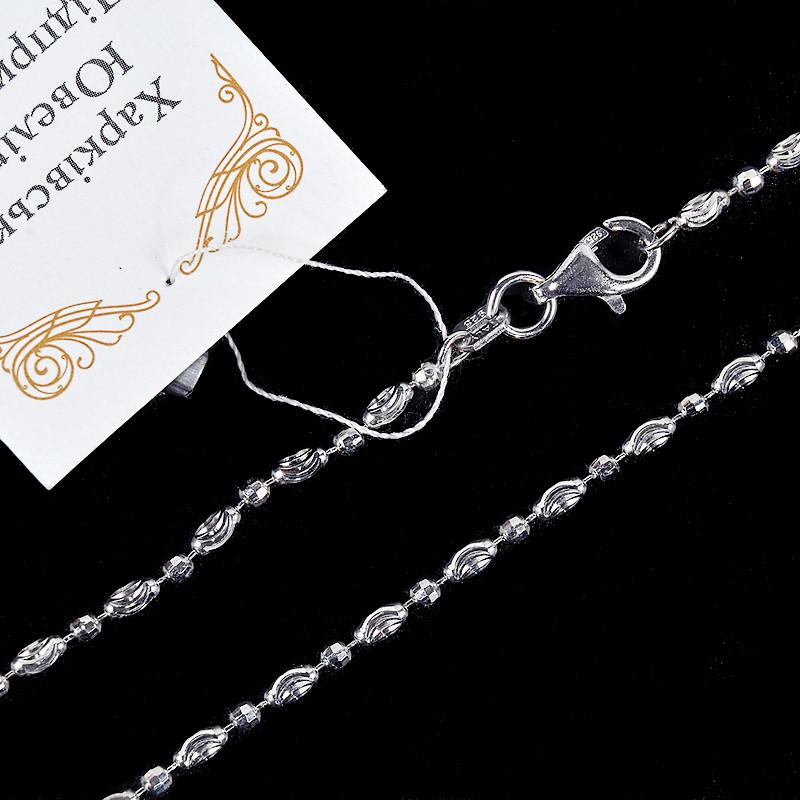 Серебряная цепочка бочонки 50 см