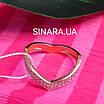 Кільце на фалангу срібло з позолотою - Фаланговое кільце, фото 3