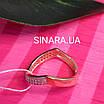 Кільце на фалангу срібло з позолотою - Фаланговое кільце, фото 5