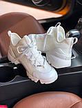Стильные женские кроссовки Dior White, фото 6