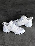 Стильные женские кроссовки Dior White, фото 7