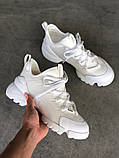 Стильные женские кроссовки Dior White, фото 8