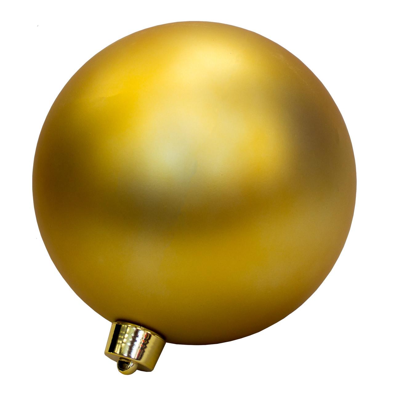 Большая елочная игрушка - шар, 30 см, пластик, золотистый (034383)
