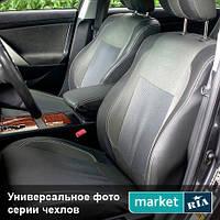 Чехлы на сиденья Peugeot 407 из Экокожи и Автоткани (Elegant), полный комплект (5 мест)