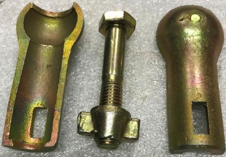 Крепление коляски МТ (губки комплект с болтом)
