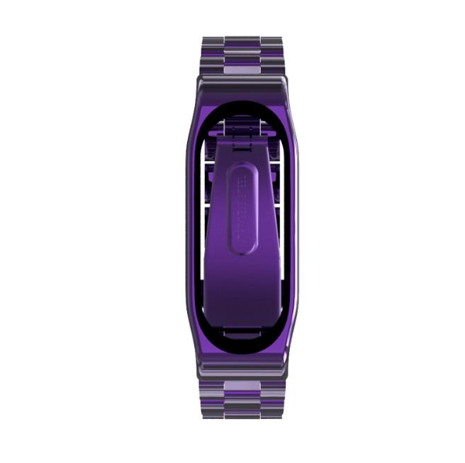 Ремешок Xiaomi Mi Band 4 / 3 MiJobs Metal Plus металлический крупное звено Фиолетовый [1702]
