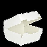 "Упаковка для Бургера ""Ю"" Белая (95х95х70), 1уп/25шт (1ящ/6рук/150шт)"