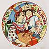 Тарілка декоративна , щаслива сім'я , кераміка , діаметр 13 см.