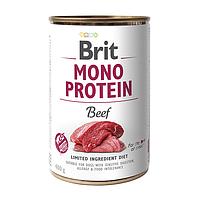 Влажный корм для собак Brit Mono Protein Beef (говядина)