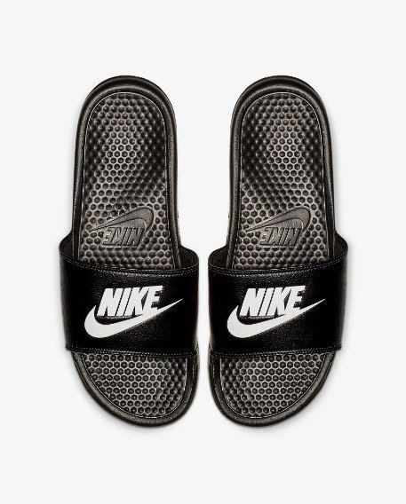 Nike Benassi Оригинальные черные Шлепанцы Тапочки вьетнамки большие размеры 343880-090