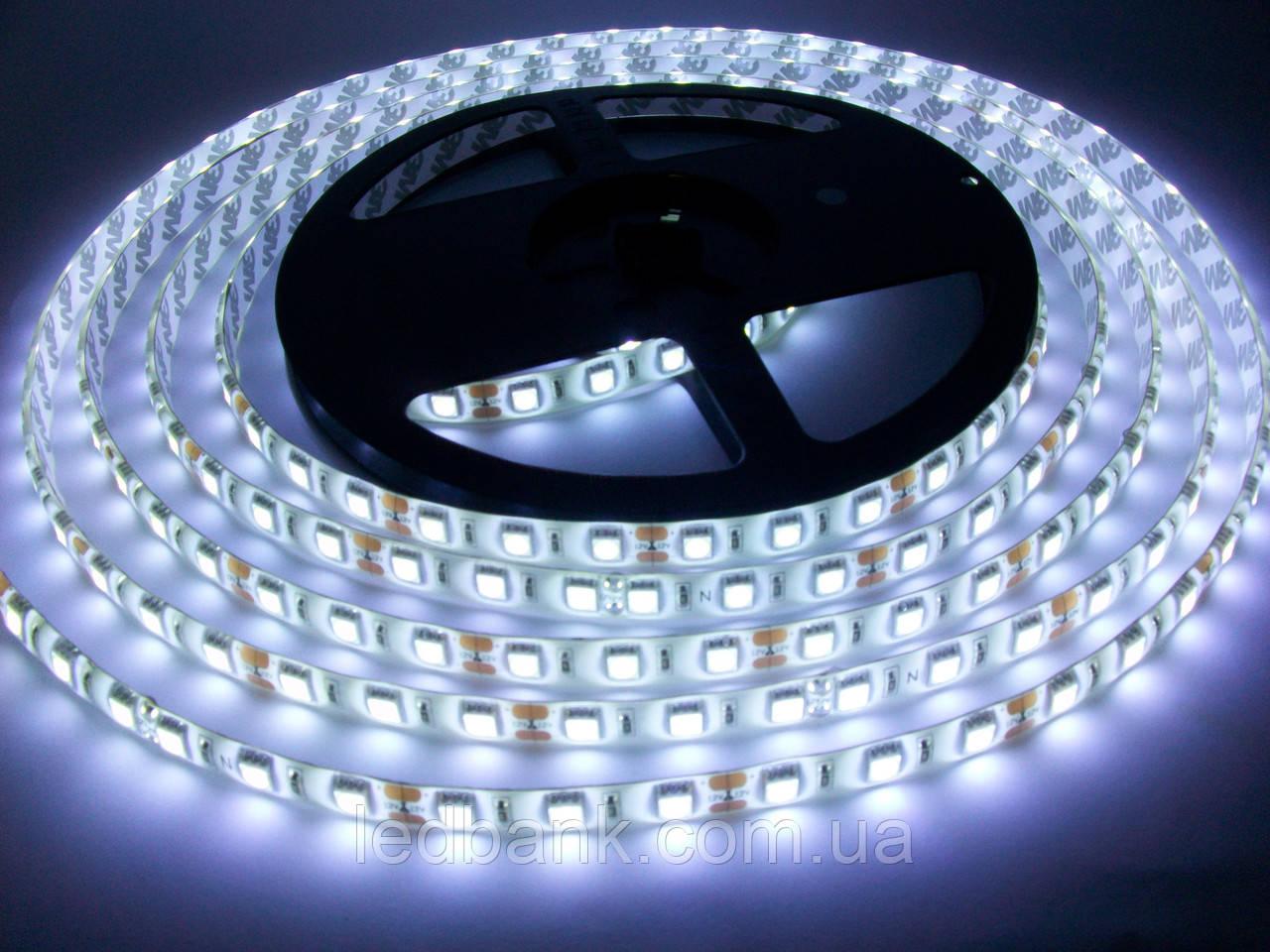 Светодиодная лента SMD 5050 60 LED/m IP65 Standart White