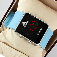 Часы  LED Adidas синие
