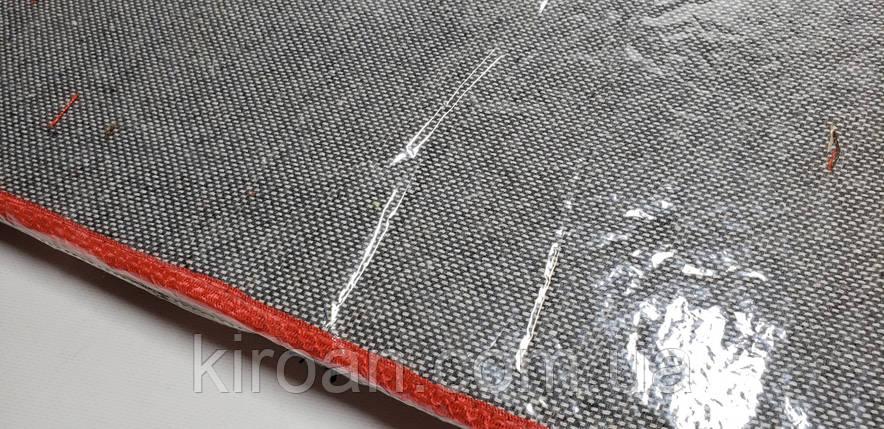 """Набір килимків трійка """"Травичка"""" латекс,блискучі (червоний), фото 2"""