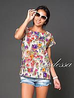 Блуза льняная бежевый, фото 1