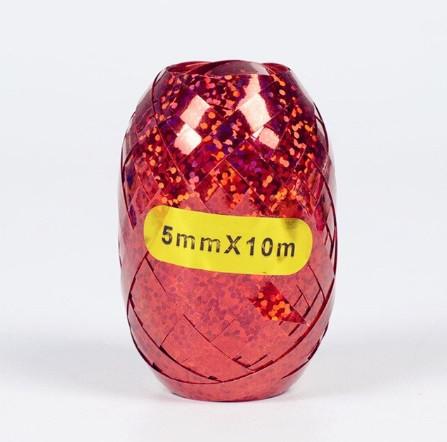 Красная ленточка для воздушных шариков - 10м