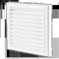 Решетка вентиляционная Домовент ДВ 150с квадратная пластиковая решетка с антимоскитной сеткой Domovent Украина