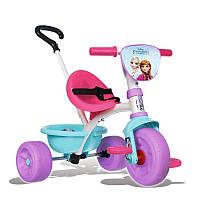 Детский трехколесный велосипед SMOBY ELZA с родительской ручкой и багажником, фото 1
