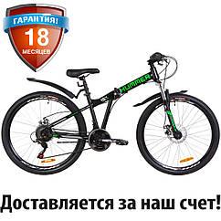 """Горный складной велосипед 26"""" Formula HUMMER DD 2019 (черно-салатный (м))"""