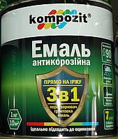 Эмаль антикоррозионная 3 в 1 Kompozit® желтая для оцинковки, алюминия, нержавейки, меди, латуни, 2.7кг