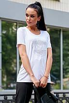 Женская футболка со стразами (3603-3609 svt), фото 3