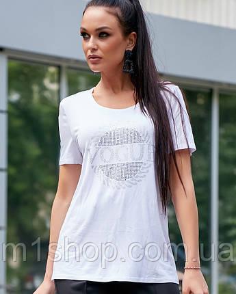 Женская футболка со стразами (3603-3609 svt), фото 2