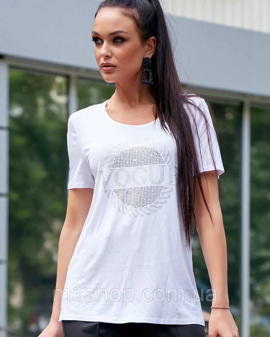 Женская футболка со стразами (3603-3609 svt)