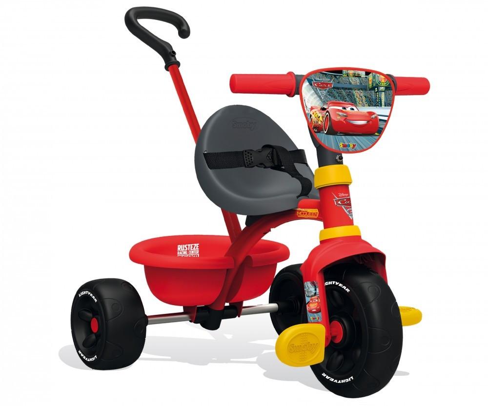 Детский трехколесный велосипед SMOBY CAR 3 с родительской ручкой регулируемое сиденье